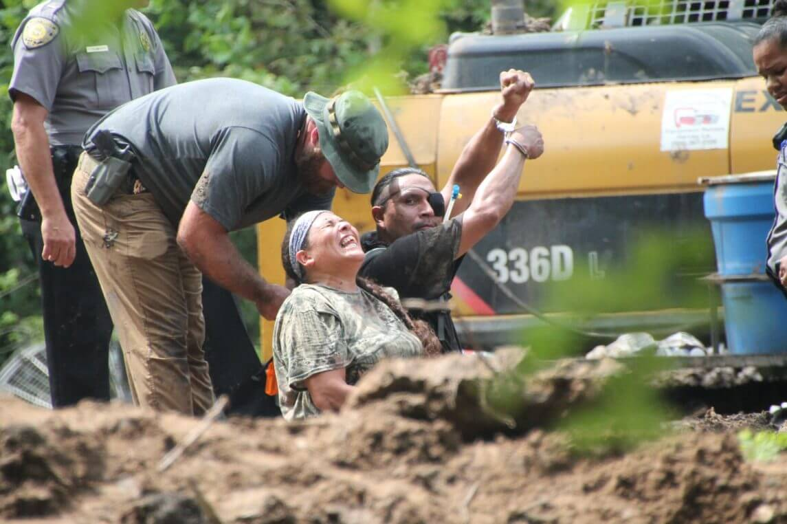 Forcible Arrest of Water Protectors at Illegal Pipeline Construction Site in Louisiana