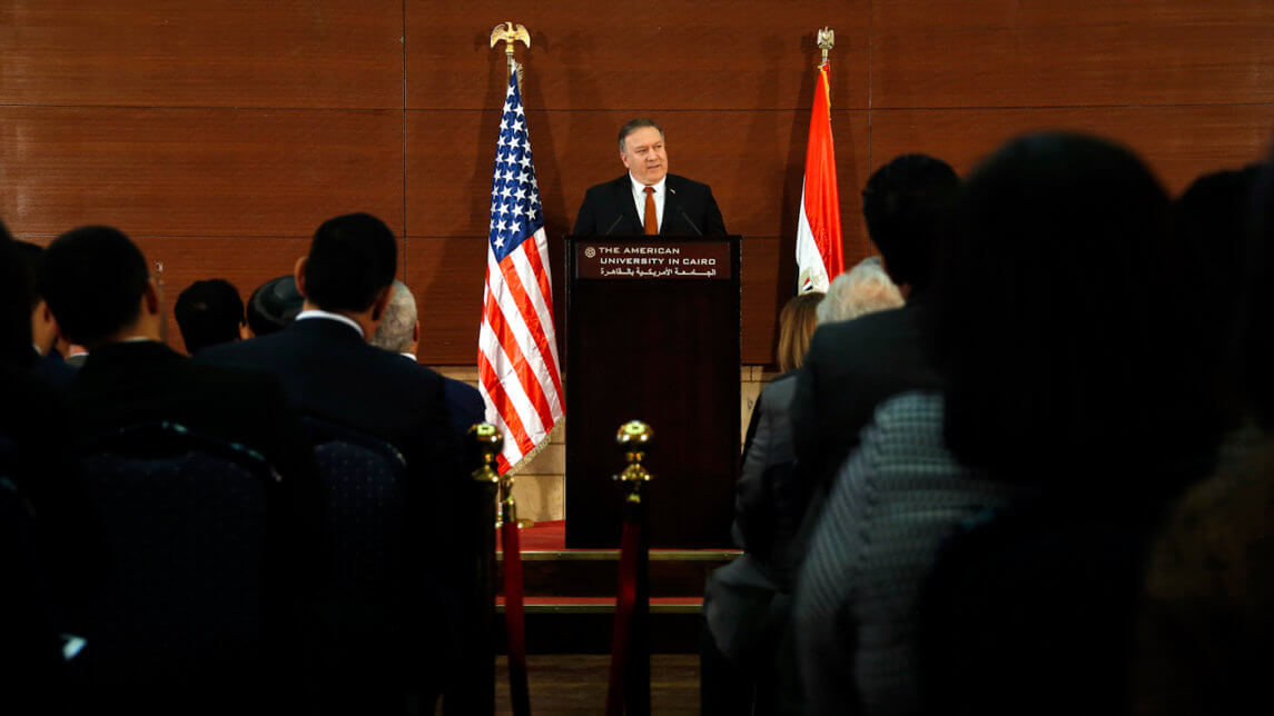 Mike Pompeo Touts US Goodness and Threatens More of It