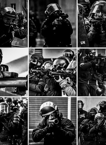 Yellow Vest Police Collage