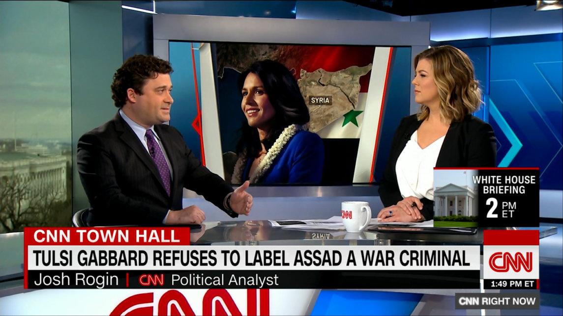 美国有线电视新闻网(CNN)外交政策守门员诋毁塔尔西加巴德(Tulsi Gabbard)的反干涉异议