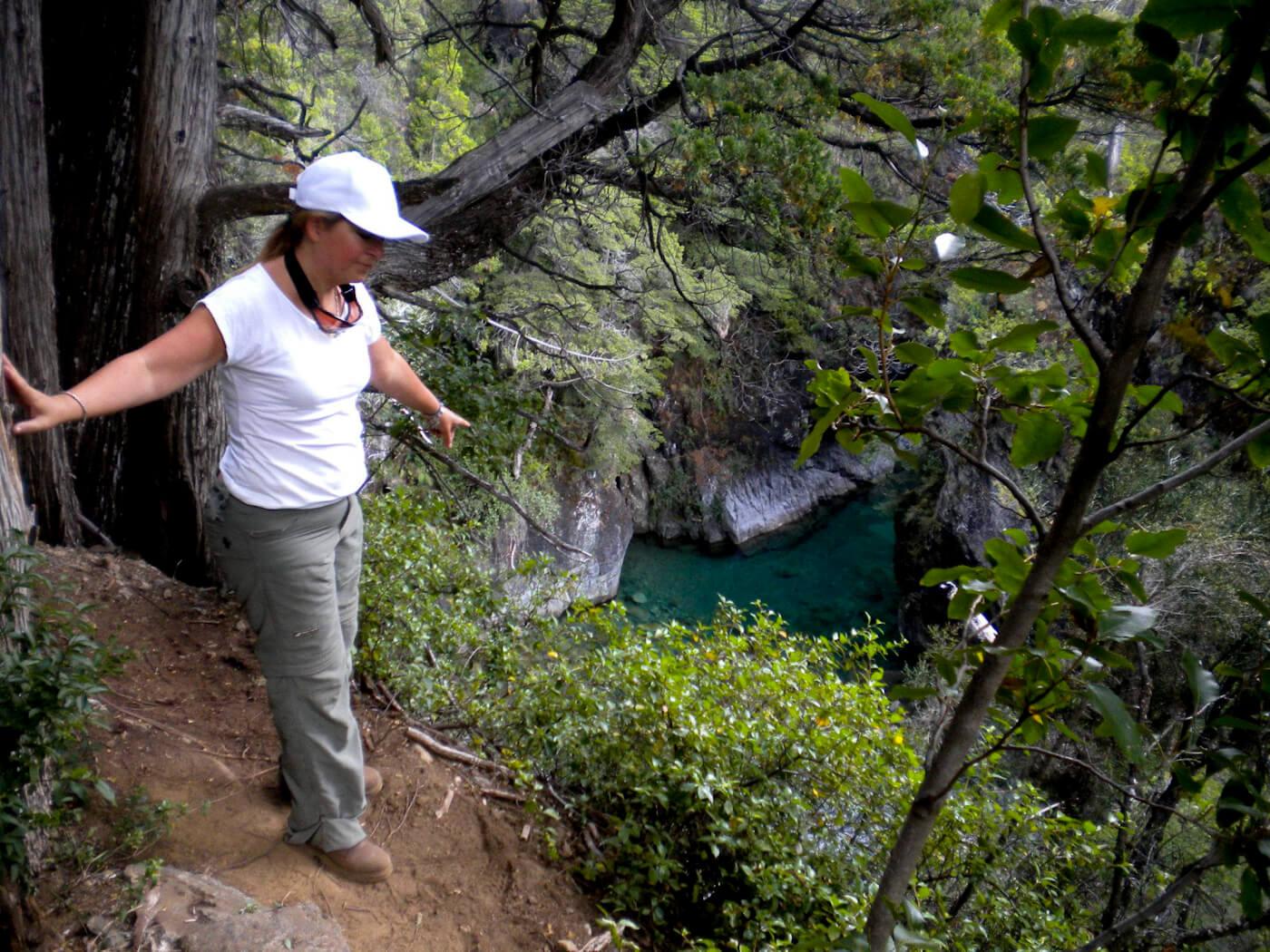 Senator Magdalena Odarda tours the publicly accessible road to Lago Escondido. Photo | Facebook