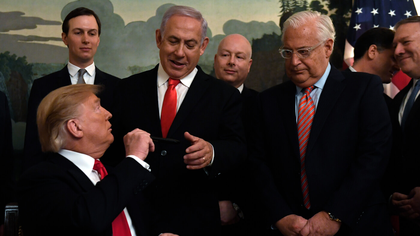 Donald Trump,Jared Kushner,Benjamin Netanyahu,Jason Greenblatt,David Friedman,Ron Dermer,Mike Pompeo