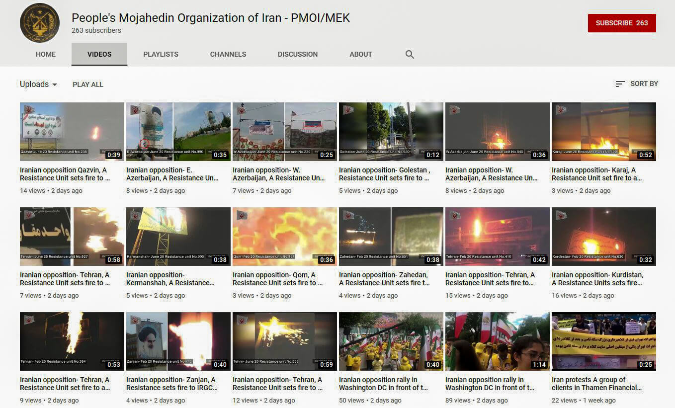 MEK YouTube пожары