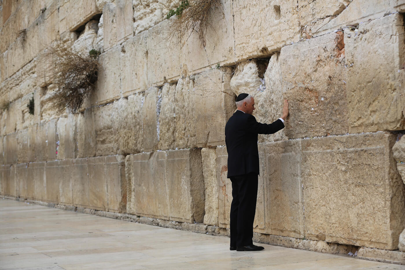 Pence visits the Western Wall, Judaism's holiest site in Jerusalem's Old City, Jan. 23, 2018. Oded Balilty | AP