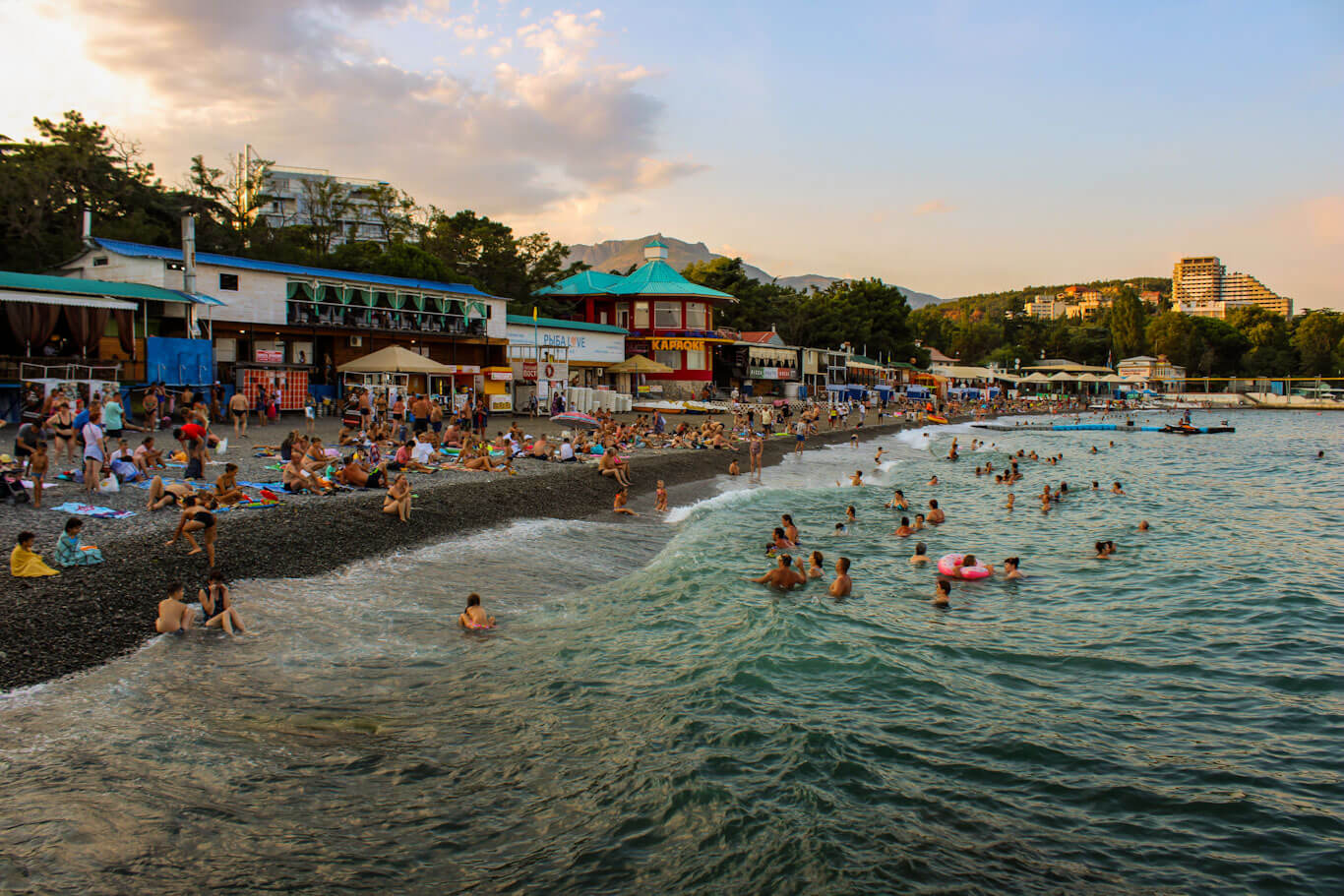 Alushta beach Crimea