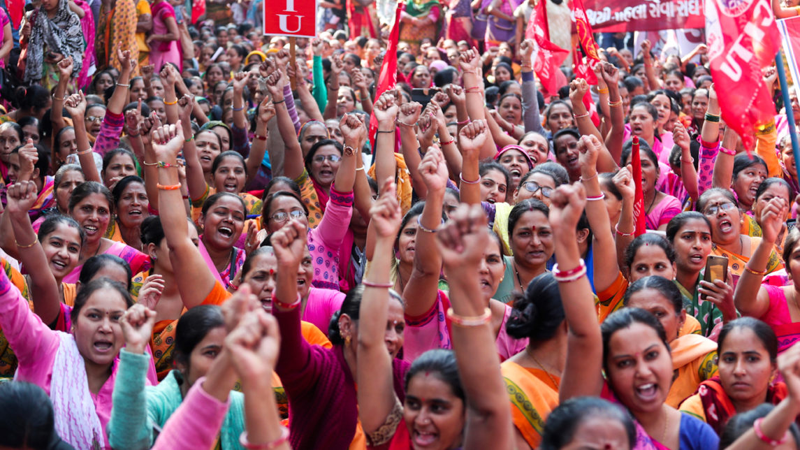 In What May be the Largest Strike in World History, Millions in India Protest PM Modi's Policies