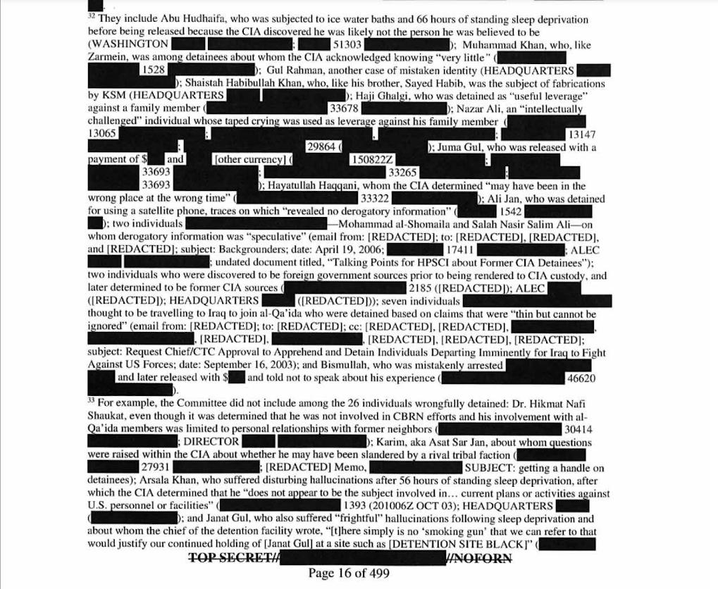 Отчет сенатского комитета по разведке о пытках ЦРУ