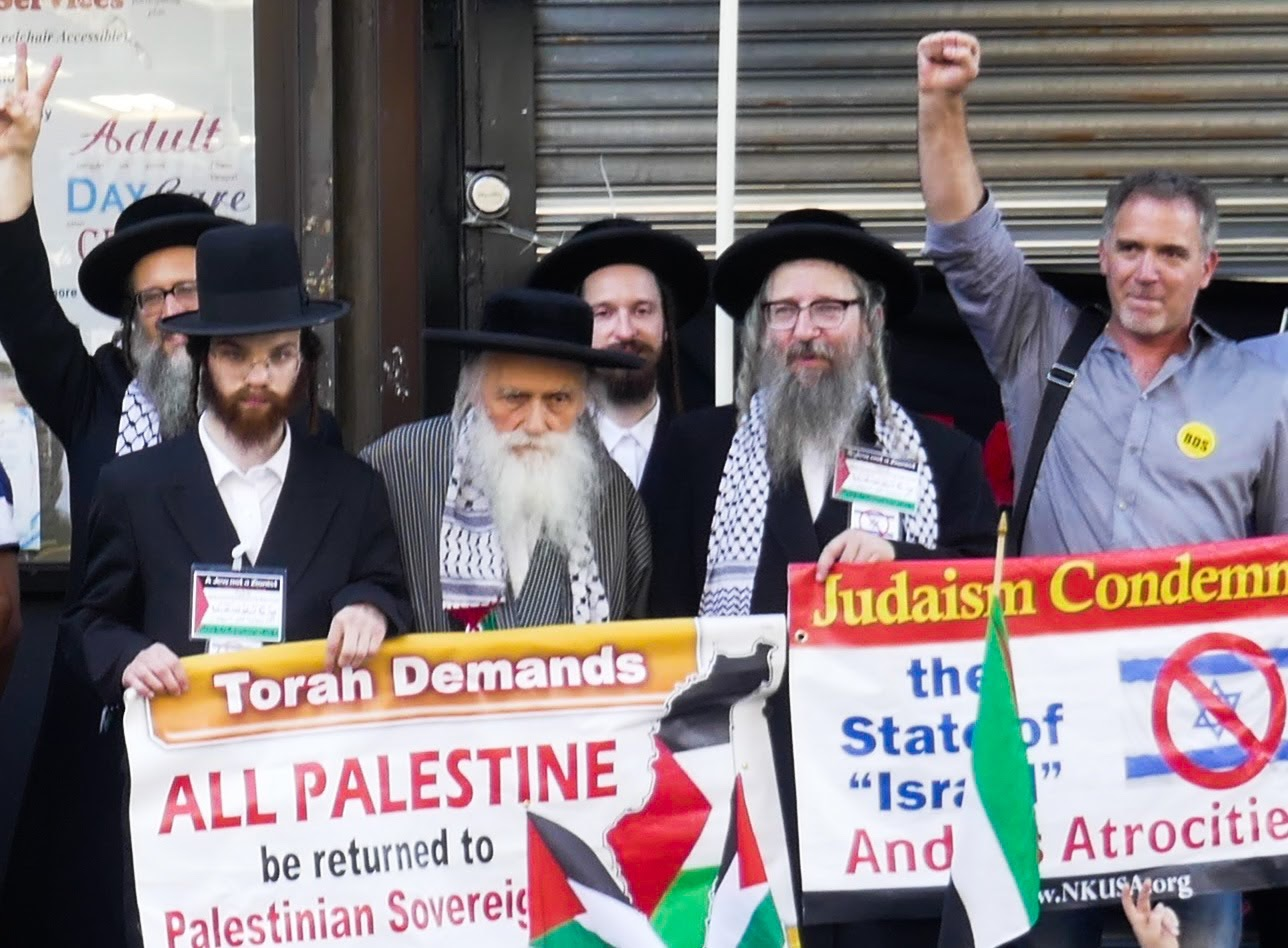 Rabbi Beck protest edited