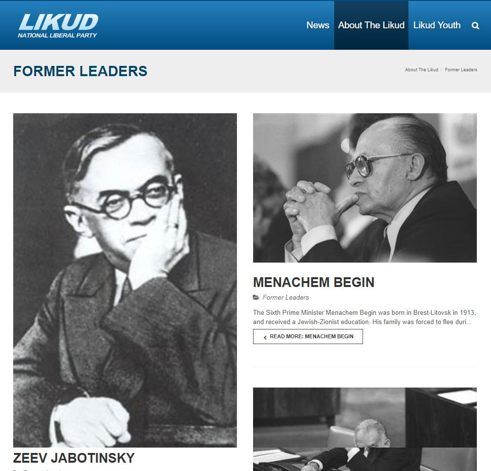 Vladimir Jabotinsky Likud